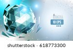 green crystal polygonal... | Shutterstock .eps vector #618773300