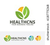 health consult  vector logo... | Shutterstock .eps vector #618775268