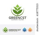 green consulting  vector logo...   Shutterstock .eps vector #618775313