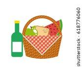 picnic concept design | Shutterstock .eps vector #618776060