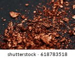 closeup brown crumbled pieces... | Shutterstock . vector #618783518
