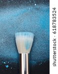 make up artist's white brush | Shutterstock . vector #618783524