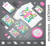 corporate identity stationery... | Shutterstock .eps vector #618783644