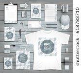 corporate identity stationery...   Shutterstock .eps vector #618783710