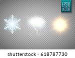 set of snowflake  cloud with... | Shutterstock .eps vector #618787730