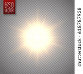 sun isolated on transparent... | Shutterstock .eps vector #618787928