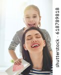happy mother's day  child... | Shutterstock . vector #618789818