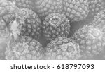 pineapple in black and white   ... | Shutterstock . vector #618797093