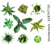 top view. big collection plants ... | Shutterstock . vector #618797720