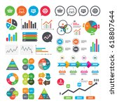 business charts. growth graph.... | Shutterstock .eps vector #618807644
