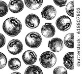 blueberry vector seamless...   Shutterstock .eps vector #618807803