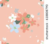 seamless pattern with large...   Shutterstock .eps vector #618808790