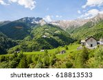 the nature of the high vigezzo  ... | Shutterstock . vector #618813533