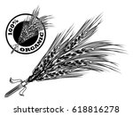 wheat ears icons and logo set.... | Shutterstock .eps vector #618816278