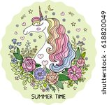 summer time  doodle style. a... | Shutterstock .eps vector #618820049