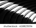 light beam on curvilinear... | Shutterstock . vector #618825056