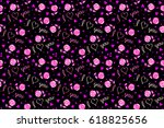 doodle elements on a black... | Shutterstock . vector #618825656