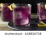 homemade purple haze cocktail... | Shutterstock . vector #618826718