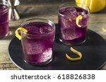 homemade purple haze cocktail... | Shutterstock . vector #618826838