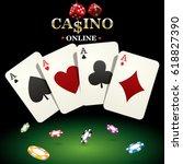 casino banner for website... | Shutterstock .eps vector #618827390