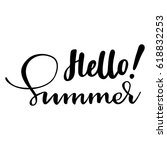 greeting card with phrase hello ...   Shutterstock .eps vector #618832253