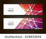 colorful mosaic banner. info... | Shutterstock .eps vector #618833696