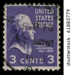 usa   circa 1946  a stamp... | Shutterstock . vector #61883779