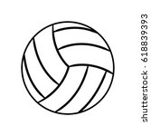 figure ball to play volleyball... | Shutterstock .eps vector #618839393