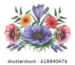 hand painted watercolor... | Shutterstock . vector #618840476