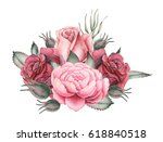 hand painted watercolor... | Shutterstock . vector #618840518