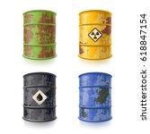 old rusty metal barrels for... | Shutterstock .eps vector #618847154