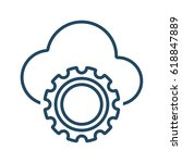 cloud and gear vector icon in... | Shutterstock .eps vector #618847889