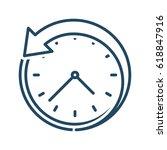 back arrow around the clock... | Shutterstock .eps vector #618847916