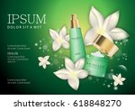spray bottle and hand cream box ... | Shutterstock .eps vector #618848270
