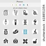pharmacy web icons for user... | Shutterstock .eps vector #618851354