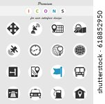 navigation vector icons for... | Shutterstock .eps vector #618852950
