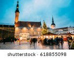 traditional christmas market on ... | Shutterstock . vector #618855098