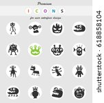 monsters web icons for user... | Shutterstock .eps vector #618858104
