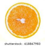 orange fruit. orange slice... | Shutterstock . vector #618867983