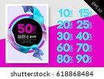 elegant vector sale template... | Shutterstock .eps vector #618868484