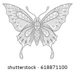 butterfly. adult antistress... | Shutterstock .eps vector #618871100