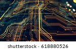 circuit board futuristic server ... | Shutterstock . vector #618880526