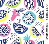 vector seamless pattern of... | Shutterstock .eps vector #618881570
