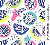 vector seamless pattern of... | Shutterstock .eps vector #618881570