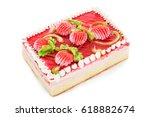 biscuit cake decorated with...   Shutterstock . vector #618882674