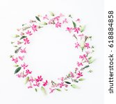 flowers composition. wreath... | Shutterstock . vector #618884858