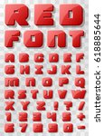 red font 3d on a transparent... | Shutterstock .eps vector #618885644