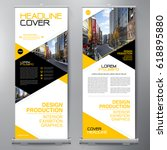 business roll up. standee... | Shutterstock .eps vector #618895880
