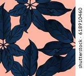 exotic flowers set. botanical... | Shutterstock .eps vector #618910460