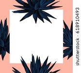 exotic flowers set. botanical... | Shutterstock .eps vector #618910493